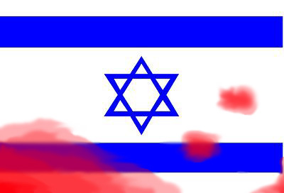 israel flag bloody