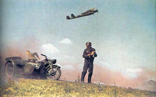 Et av de mest berømte bildene av en Fw189 på tokt et sted over østfronten