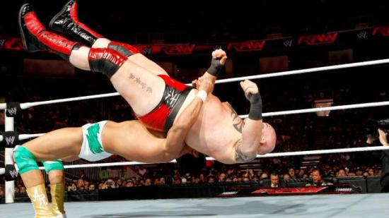 German Suplex like a champ! (WWE)