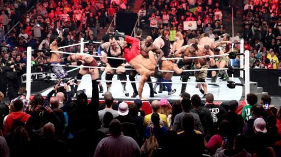 Aldri et siste-show før Royal Rumble som ikke ender med 20 mann i ringen som en visuell teaser (WWE)