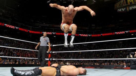Smurfer løper ikke fort, så tramp dem ned og tørk dem bort(WWE)