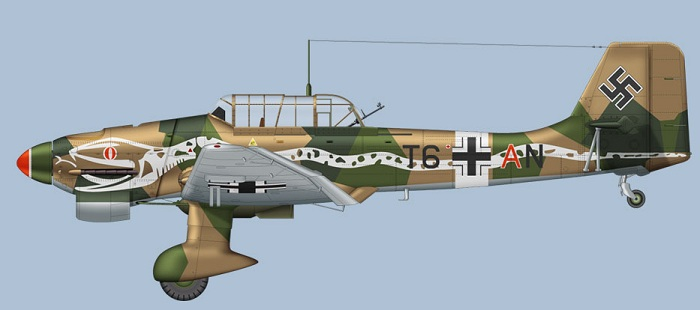 Ju87 B-2 Stuka (Bilde: Clavework Graphics)