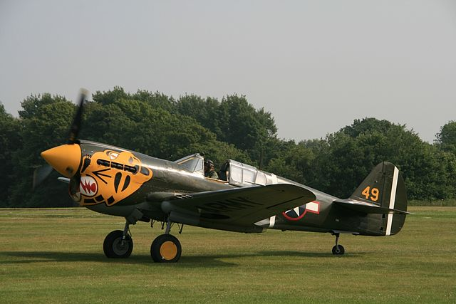 Det er fortsatt en liten håndfull P-40er i flygedyktig stand, som denne E'en i fargene til Aleutian Tigers som fløy fra Alaska