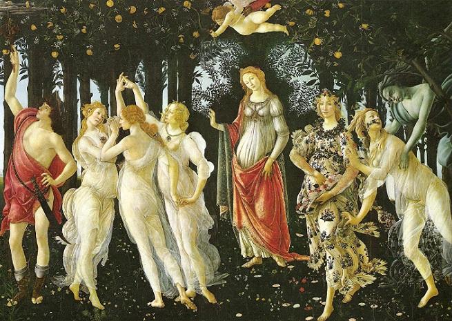 Prima vera (Våren) av Botticelli