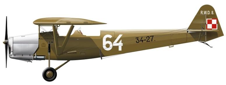 En RWD-8 i polsk tjeneste, og nært beslektet med profilene jeg har valgt.