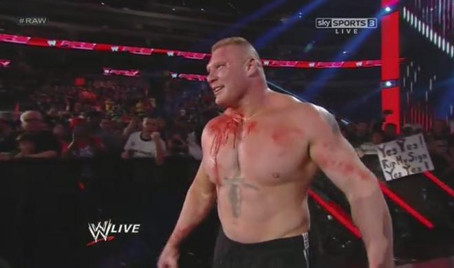 U maked Bork Bleed? Bork look forward to hurting U! (WWE)