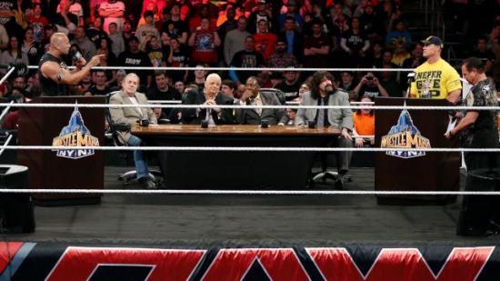Bret Hart ser ut som han har glemt hvorfor han er der, Dusty Rhodes booker NXT i hodet, Booker  savner Teddy Long å kjefte på mens Mick Foley er oppriktig interessert i å se om Cena faktisk er på Gråten.  Hodet til Jerry Lawler er som vanlig kunn fylt av tanker på poontang og rasistiske vitser. (WWE)