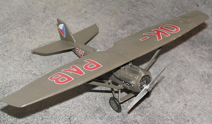 OK-PAB (D1-19), Innenriksdepartementes sikkerhetsstyrkers luftpatrulje. Cheb lufthavn, 1935. Pilot: Flyløytnant Vladimir Svozil