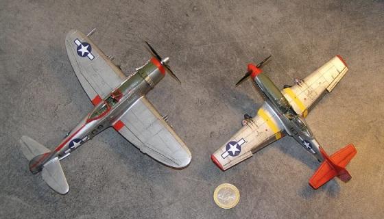 Ja, begge flyene er i 1:72 skala!