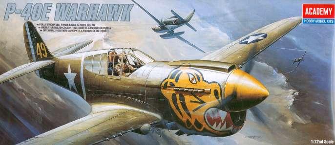 Academy kit #1671 P-40E Warhawk