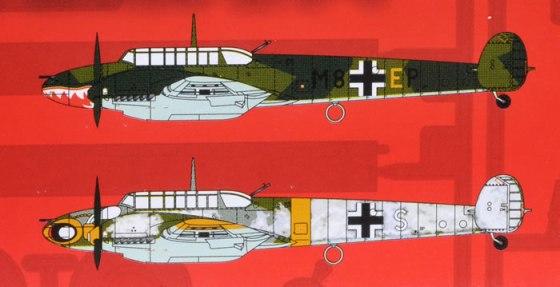 Airfix' illustrasjoner av profilene