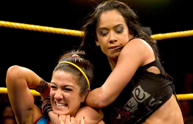 You wanted to hug me Bayley? I'm HUGGING YOU NECK right now... happy? (NXT)