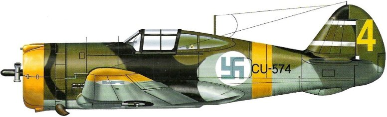 En finsk Curtiss P-36 Hawk.