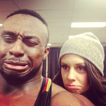 Aww,  Big E! #GoodbyesAreHard (via Instagram)