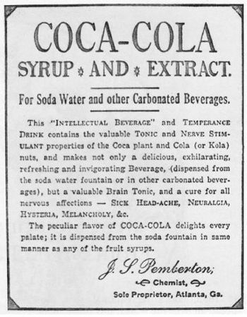 En annonse for Coca Cola fra gode gamle dager (Wikipedia)