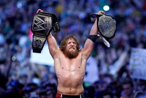Daniel Bryan WWE World Heavyweight Champion (bilde:AP)