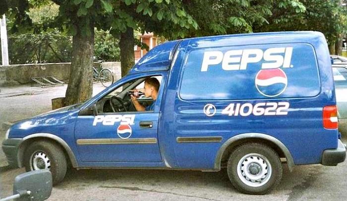 Men skal det leveres på døra, sørg for at sjåføren ikke blir tørst underveis...