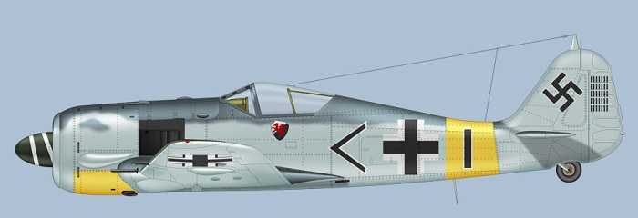 Fw109A-5 fra Stab. III/JG11 (Bilde: Clavework Graphics)