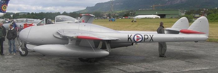 DeHavilland Vampire,  Norges første jetjager-type