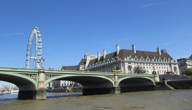Artig å se London fra denne synsvinkelen til en avveksling!