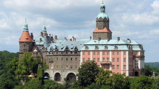 Noe sånn som dette... Slottet Książ (eller Schloss Fürstenstein på tysk)