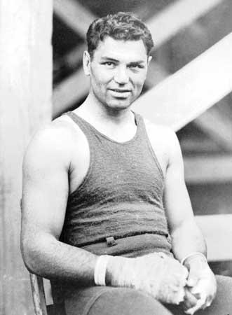 """Jack Depsey , """"The Manassa Mauler"""", et av de største sportsikonene på 1920-tallet (Britannica)"""
