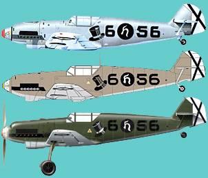 Samme fly,  tre tolkninger.  Ovenfra og ned: Tidlig 80-tall,  slutten av 90-tallet og ca 2005.