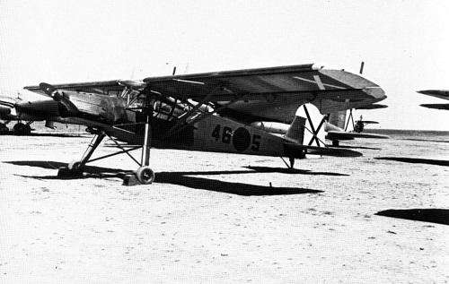 Storch nr 5 fotografert i Spania i 1939.