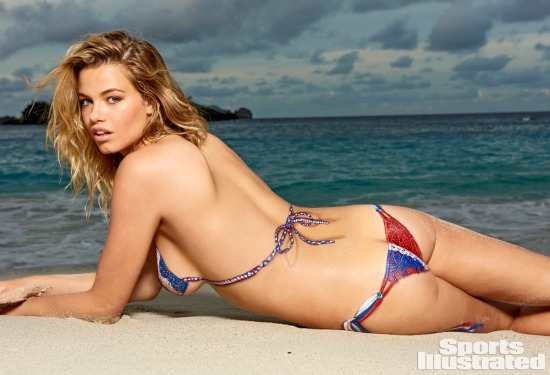 Hailey Clauson. Antrekk: Nei Kroppsmaling ved Joanne Gair - inspirert av Indha (Sports Illustrated)