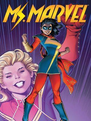 """Og når Carol etablerte seg som """"Captain Marvel"""" ble det gamle dekknavnet hennes ledig, og overtatt av en  fan.  Vips var Marvels første kvinnelige, muslimske tenåringsheltinne født...."""