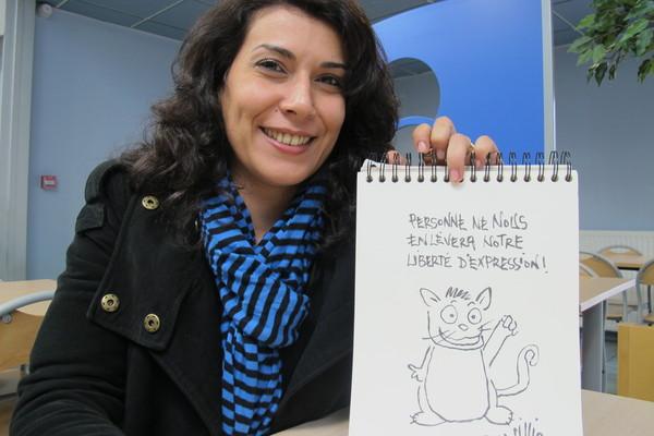 """Nadia Khiari,  via sitt alter ego """"Willis from Tunis"""" tar særlig opp kampen mot mørkemenn som ønsker å redusere kvinners rettigheter i hjemlandet Tunisia"""