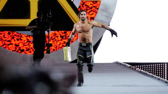 """Seth Rollins is cashing in his Money in the Bank-contract.  The match will restart as a Triple Threat match"" (WWE)"