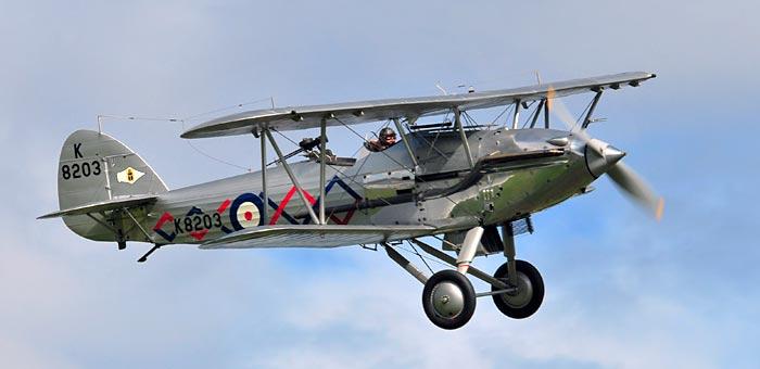 EN restaurert Hawker Demon,  jagerflyversjonen av Hawker Hart.