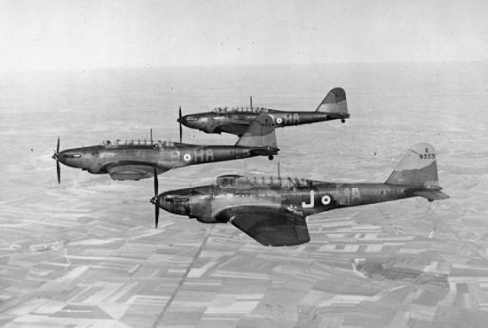 Fairey Battles 218. Sqn (France c.1940?) (Wikipedia)