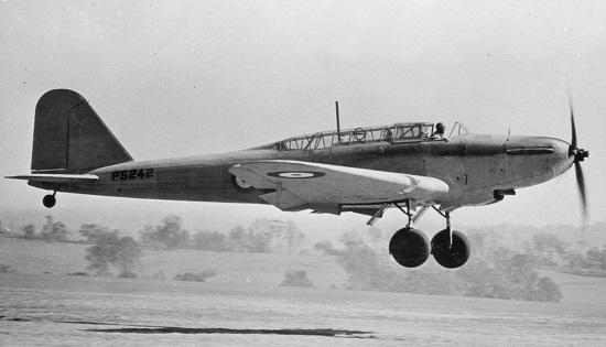 Fairey Battle Mk. I  (via Pinterest)