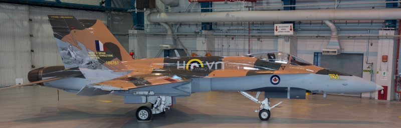"Årets ""CF-18 Hornet Demonstration Aircraft"" ble avduket 27 Mars 2015  hos 3 Wing Bagotville in Saguenay, Québec. (www.rcaf-arc.forces.gc.ca)"