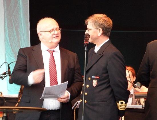 Marinemusikkens kommandør var et litt mer medgjørlig intervjuobjekt enn Yan Friis...