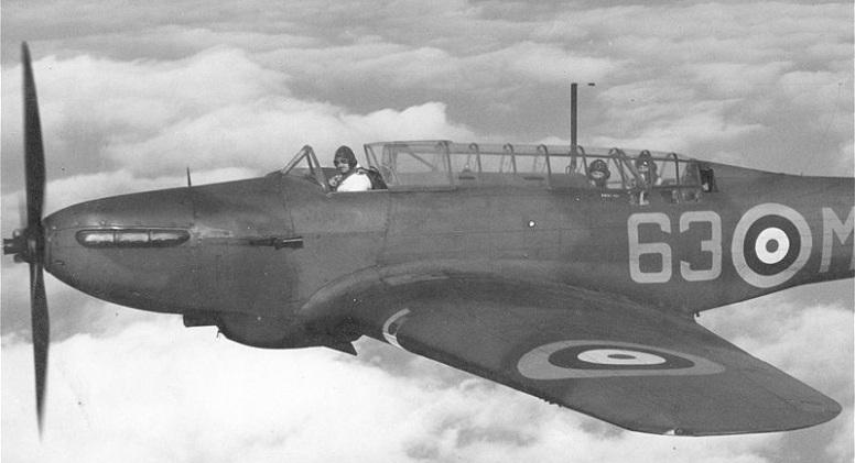Fairey Battle, K7650 / 63-M fra No. 63 Squadron, RAF Benson, November 1939. Dette var den første operative skvadronen til å være utstyrt med typen. (Public domain via Wikipedia)