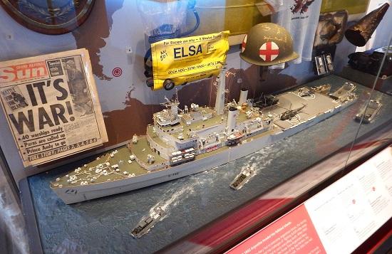 Et monter i avdeling for Falklandskrigen, en av Royal Navys mer strålende kampanjer de siste 50 årene.
