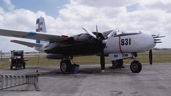 En amerikanske Douglas A-26 C Invader malt i fargene til det cubanske luftforsvaret som ledd i den planlagt militære invasjonen av Cuba av den CIA-sponset paramilitær gruppen Brigade 2506 i april 1961.